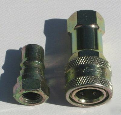 """1 4 Npt >> Aeroquip quick disconnect fittings 15 pieces 1/4"""" npt"""