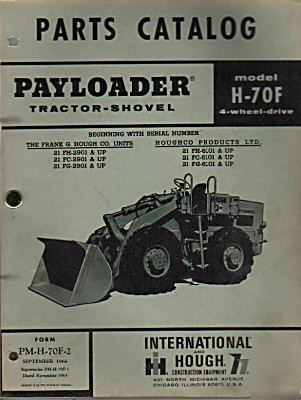 Hough payloader tractor-shovel h-70F parts catalog