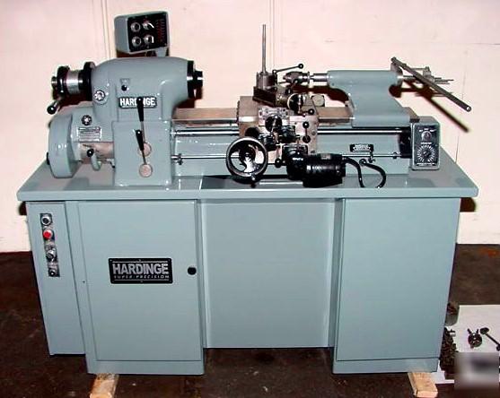 "11"" precision engine lathe, hardinge hlv-h va"