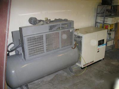 Ir Ingersoll Rand 10hp Horizontal Compressor 2540