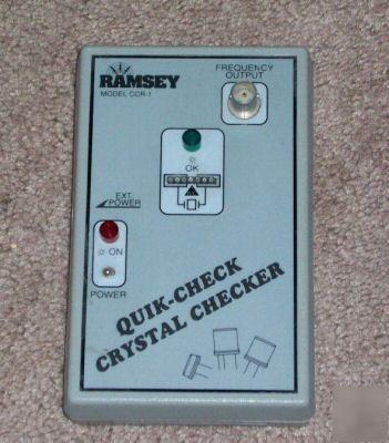 Ramsey electronics ccr-1 quik - check crystal checker