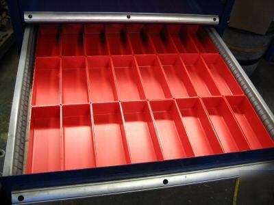 24 drawer bins 3 x8 lista vidmar lyon craftsman red. Black Bedroom Furniture Sets. Home Design Ideas