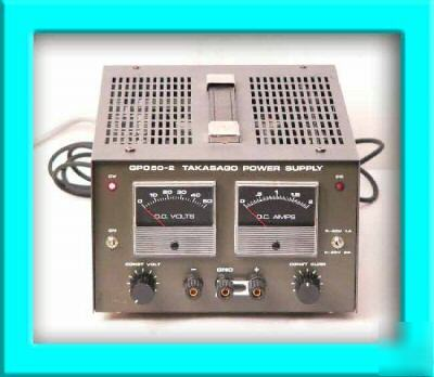Takasago Gp050 2 Regulated Dc Power Supply