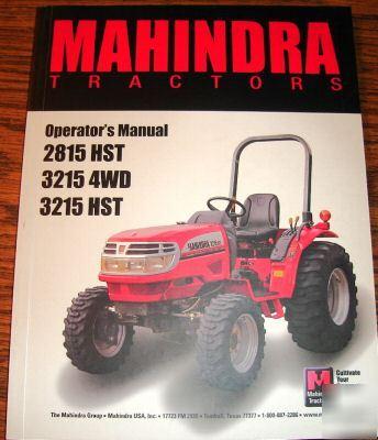 mahindra 2815 hst thur 3215 hst tractor operator manual rh tennesseequipment com Mahindra Tractors Toy Mahindra Tractors Toy