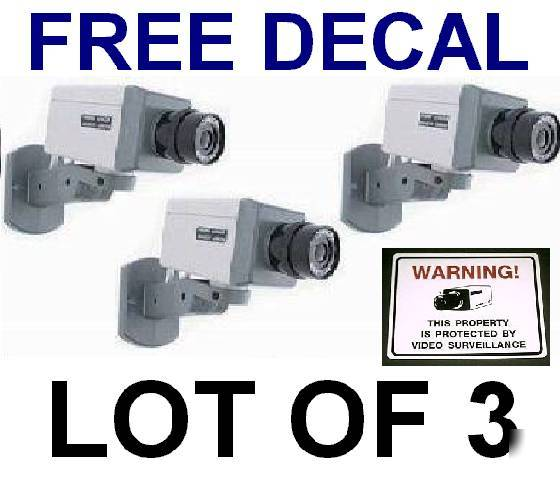 fake dummy cctv camera security spy cam ccd cameras lot. Black Bedroom Furniture Sets. Home Design Ideas