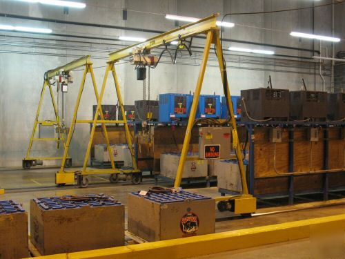Battery Handling Equipment : Dual forklift battery charger handling systems