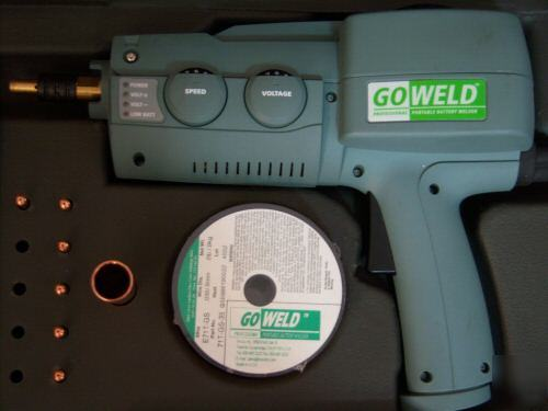 New Goweld Portable Battery Wire Welder Kit