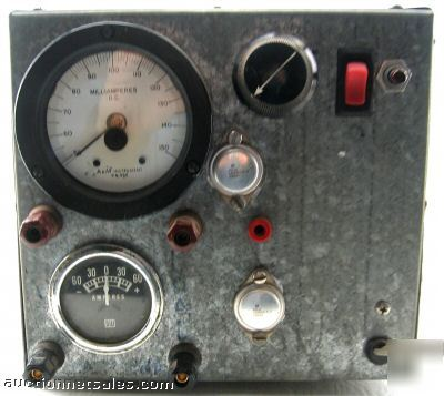 Dc milliamp amp meter tester variable power supply